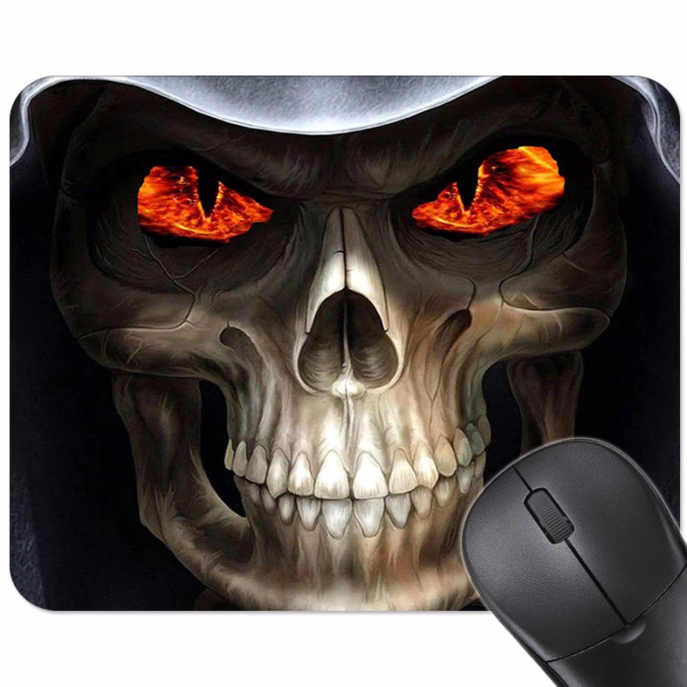 Cool Skull Anti-Slip Mouse Pad